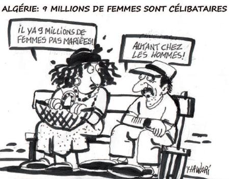 Algérie: 9 millions de femmes sont célibataires - Dessins et Caricatures, Hawari - La Tribune des Lecteurs - Gagdz.com