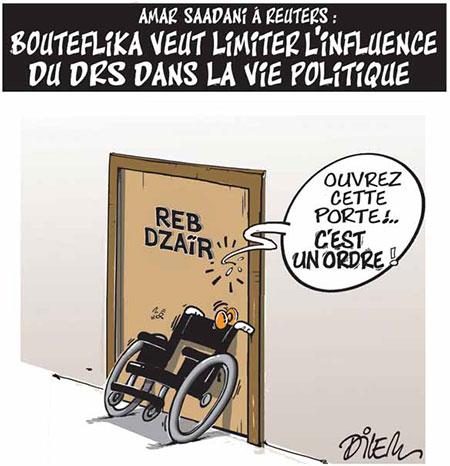 Bouteflika veut limiter l'influence du drs dans la vie politique - Dessins et Caricatures, Dilem - Liberté - Gagdz.com