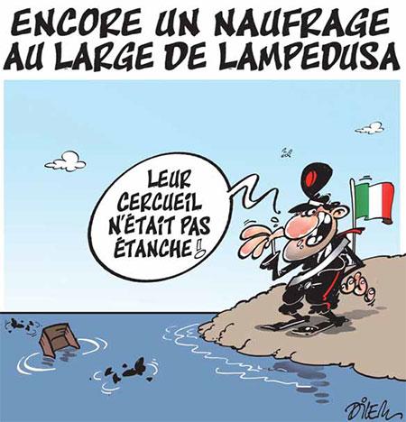 Encore un naufrage au large de Lampedusa - Dilem - Liberté - Gagdz.com