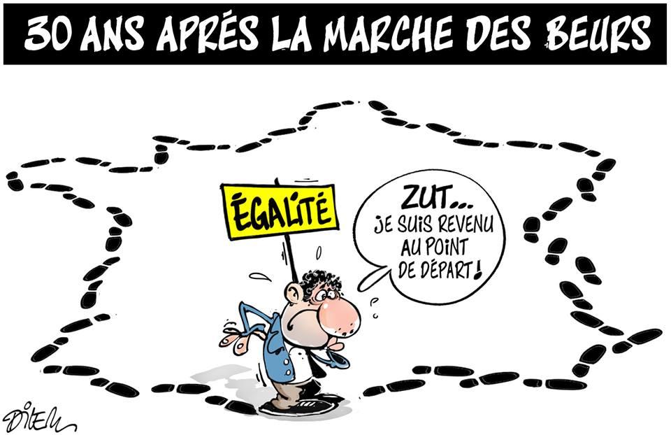 30 ans après la marche des beurs - Dessins et Caricatures, Dilem - TV5 - Gagdz.com