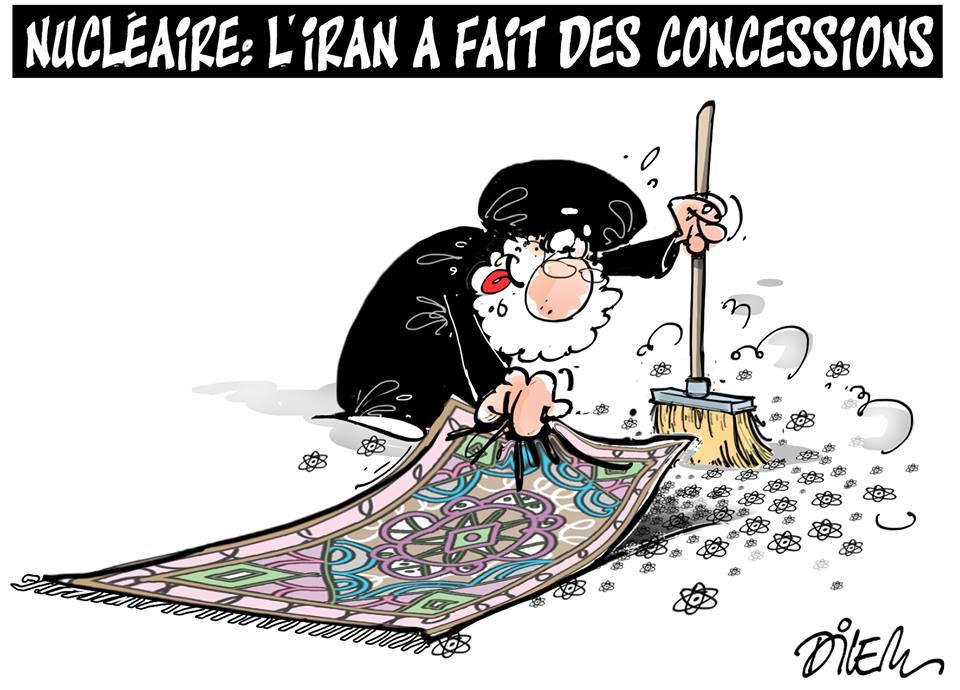 Nucléaire : L'Iran a fait des concessions - Dessins et Caricatures, Dilem - TV5 - Gagdz.com