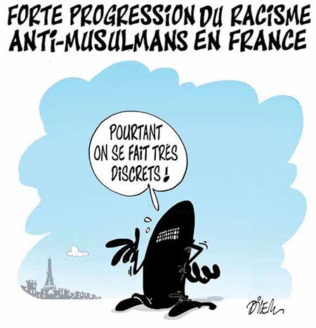 Forte progression du racisme anti-musulmans en France - Dilem - Liberté - Gagdz.com
