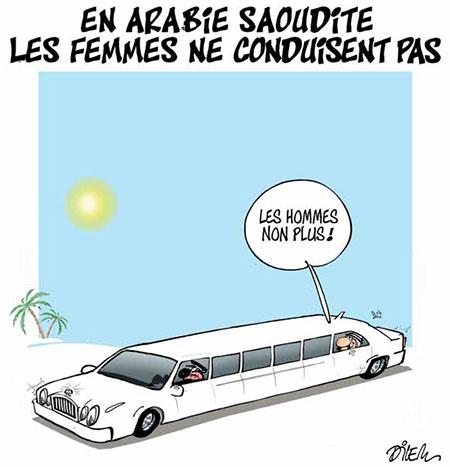 En Arabie Saoudite les femmes ne conduisent pas - Dilem - Liberté - Gagdz.com