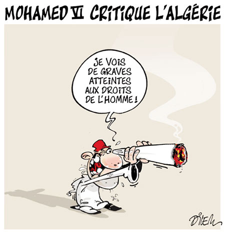 Mohamed VI critique l'Algérie - Dilem - Liberté - Gagdz.com