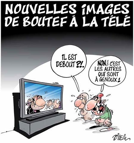 Nouvelles images de Boutef à la télé - images - Gagdz.com