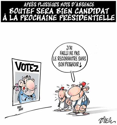 Bouteflika sera bien candidat à la présidentielle - Dilem - Liberté - Gagdz.com