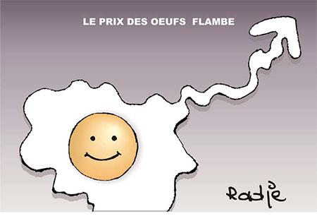 Le prix des oeufs flambe - Ghir Hak - Les Débats - Gagdz.com
