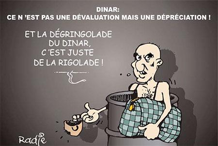 Dinar: Ce n'est pas une dévaluation mais une dépréciation - dévaluation - Gagdz.com