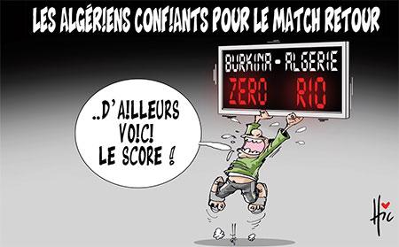 Les Algériens confiants pour le match retour - Le Hic - El Watan - Gagdz.com