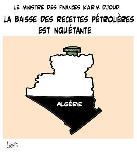 La baisse des recettes pétrolières est inquiétante - Lounis Le jour d'Algérie - Gagdz.com