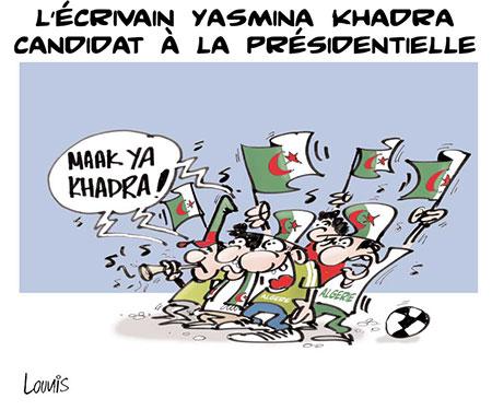 L'écrivain Yasmina Khadra candidat à la présidentielle - Lounis Le jour d'Algérie - Gagdz.com