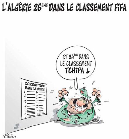L'Algérie 26ème dans le classement Fifa - Dilem - Liberté - Gagdz.com