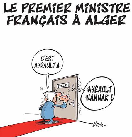 Le premier ministre français à Alger - Dilem - Liberté - Gagdz.com