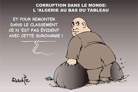 Corruption dans le monde: L'Algérie au bas du tableau - Ghir Hak - Les Débats - Gagdz.com