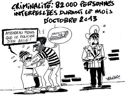 Criminalité: 82000 personnes interpelées durant le mois d'octobre 2013 - mois - Gagdz.com