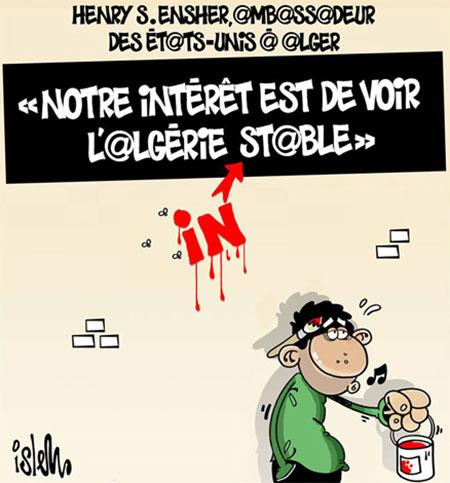 Henry S.Ensher: Notre intérêt est de voir l'Algérie stable - Islem - Le Temps d'Algérie - Gagdz.com