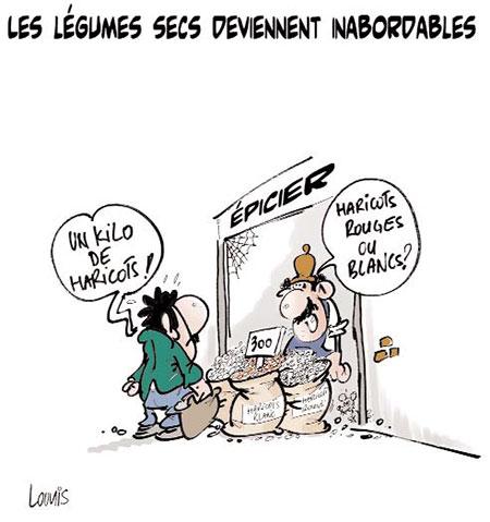 Les légumes secs deviennent inabordables - Lounis Le jour d'Algérie - Gagdz.com