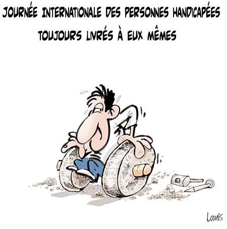 Les handicapées toujours livrés à eux mêmes - Lounis Le jour d'Algérie - Gagdz.com