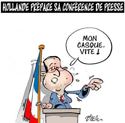 Hollande prépare sa conférence de presse - presse - Gagdz.com