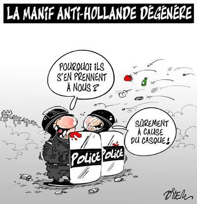 La manif anti-Hollande dégénère - manifestations - Gagdz.com