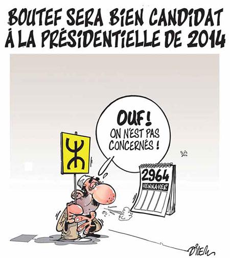 Bouteflika sera bien candidat à la présidentielle de 2014 - Dilem - Liberté - Gagdz.com