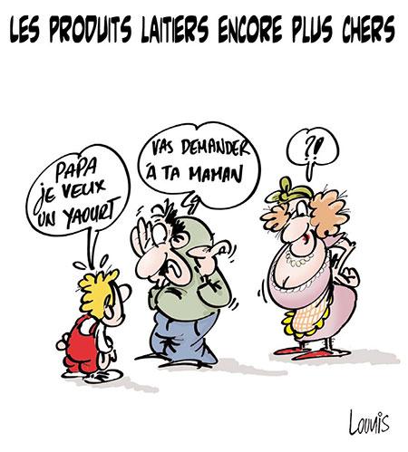 Les produits laitiers encore plus chers - Lounis Le jour d'Algérie - Gagdz.com