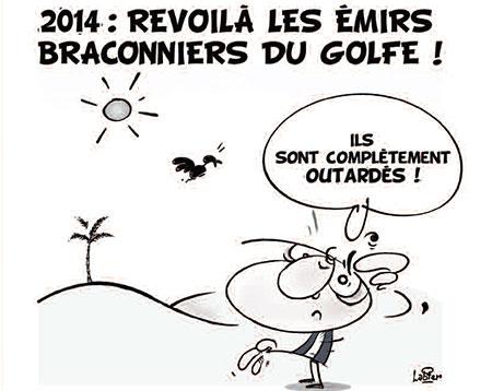 2014: Revoilà les émirs braconniers du golfe - golfe - Gagdz.com