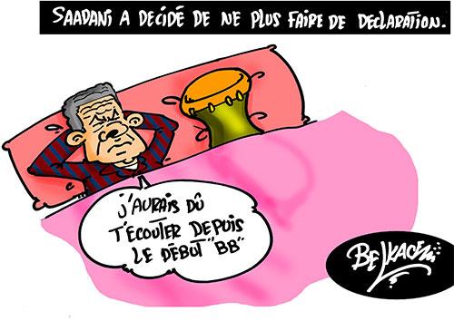 Saadani a decidé de ne plus faire de déclaration - Belkacem - Le Courrier d'Algérie - Gagdz.com