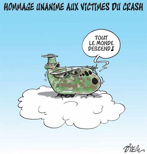 Hommage unanime aux victimes du crash - Dilem - Liberté - Gagdz.com