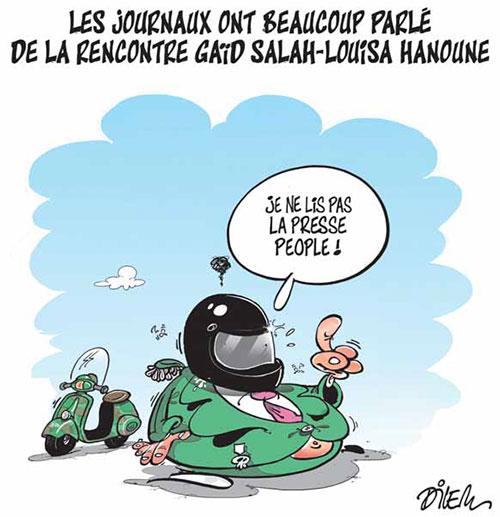 Les journaux ont beaucoup parlé de la rencontre Gaid Salah-Louisa Hanoune - Hanoune - Gagdz.com