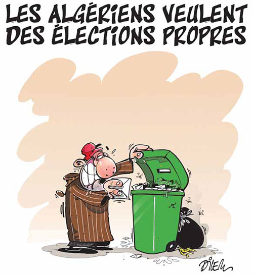 Les Algériens veulent des élections propres - Dilem - Liberté - Gagdz.com