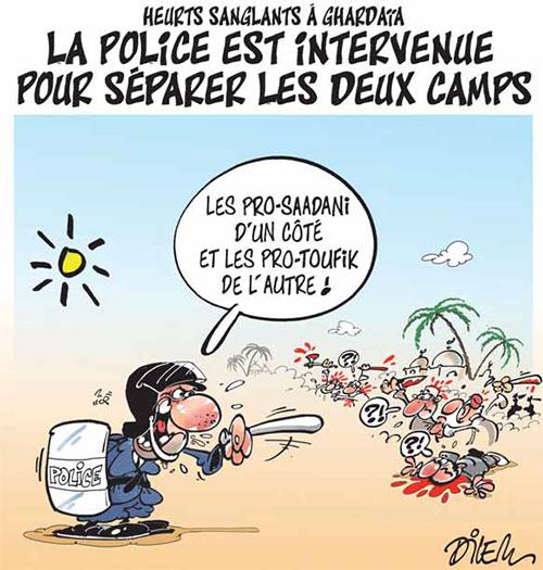 Heurts sanglants à Ghardaïa: La police est intervenue pour séparer les deux camps - Dilem - Liberté - Gagdz.com