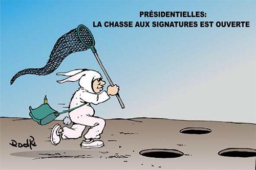 Présidentielles: La chasse aux signatures est ouverte - Ghir Hak - Les Débats - Gagdz.com