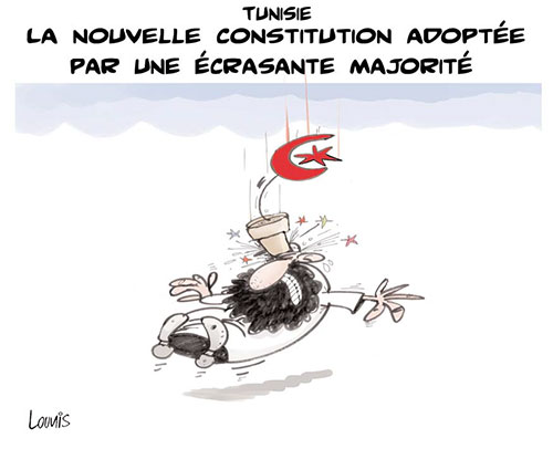 Tunisie: La nouvelle constitution adoptée par une écrasante majorité - Lounis Le jour d'Algérie - Gagdz.com