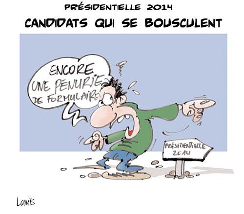 Présidentielle 2014: Candidats qui se bousculent - Lounis Le jour d'Algérie - Gagdz.com