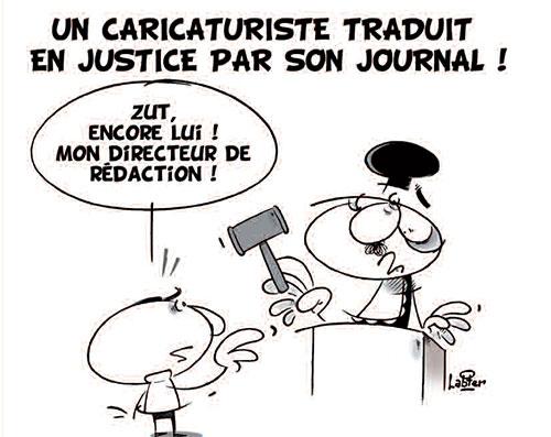 Un caricaturiste traduit en justice par son journal - Vitamine - Le Soir d'Algérie - Gagdz.com