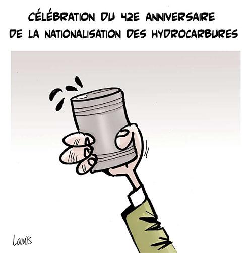 Célébration du 42e anniversaire de la nationalisation des hydrocarbures - Lounis Le jour d'Algérie - Gagdz.com