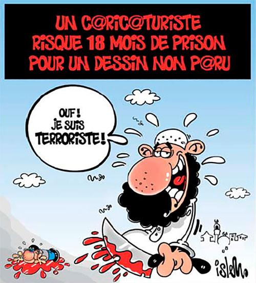 Un caricaturiste risque 18 mois de prison pour un dessin non paru - mois - Gagdz.com