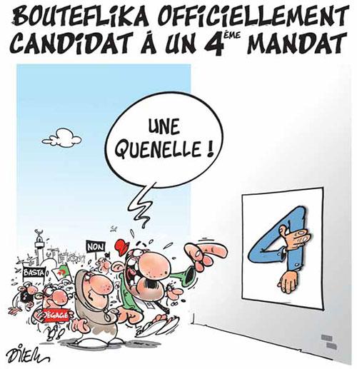 Bouteflika officiellement candidat à un 4ème mandat - Dilem - Liberté - Gagdz.com