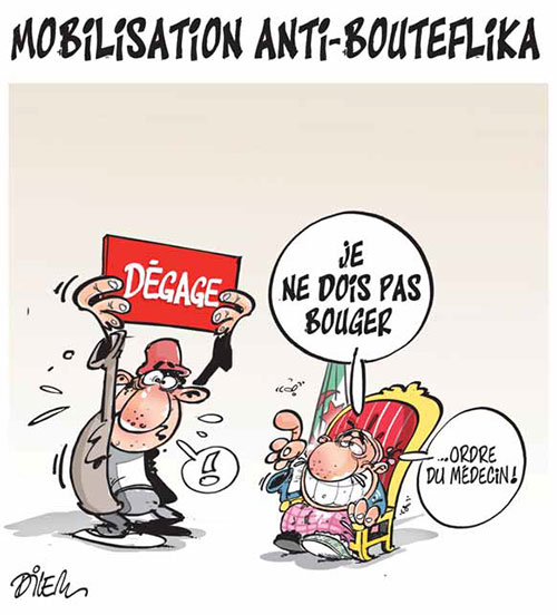Mobilisation anti-Bouteflika - Dilem - Liberté - Gagdz.com