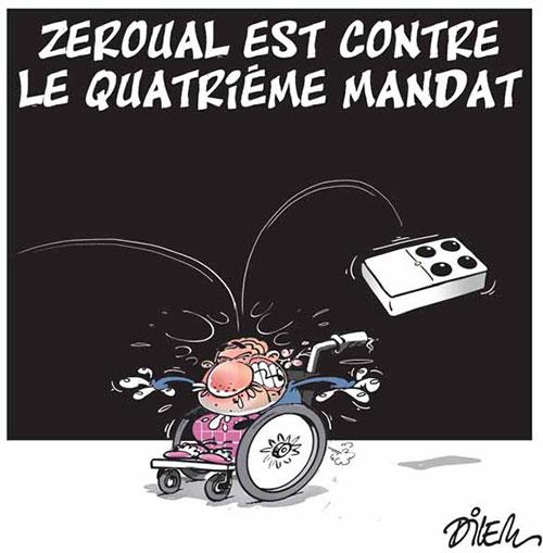 Zeroual est contre le quatrième mandat - Dilem - Liberté - Gagdz.com