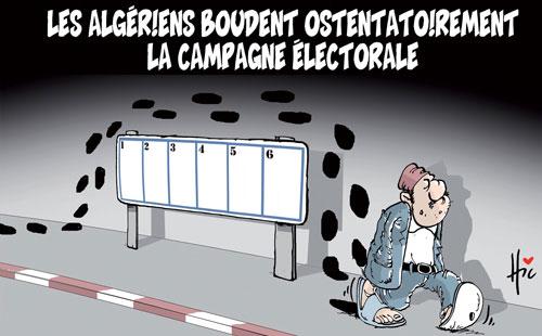 Les Algériens boudent ostentatoirement la campagne électorale - Le Hic - El Watan - Gagdz.com
