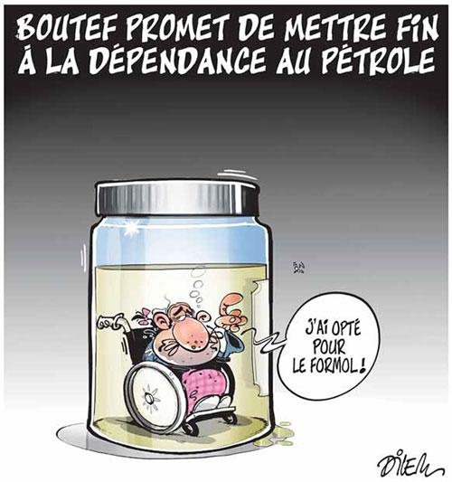 Boutef promet de mettre fin à la dépendance au pétrole - Dilem - Liberté - Gagdz.com