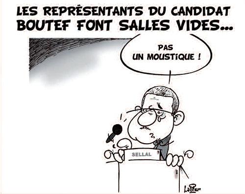 Les représentants du candidat boutef font salles vides - Vitamine - Le Soir d'Algérie - Gagdz.com