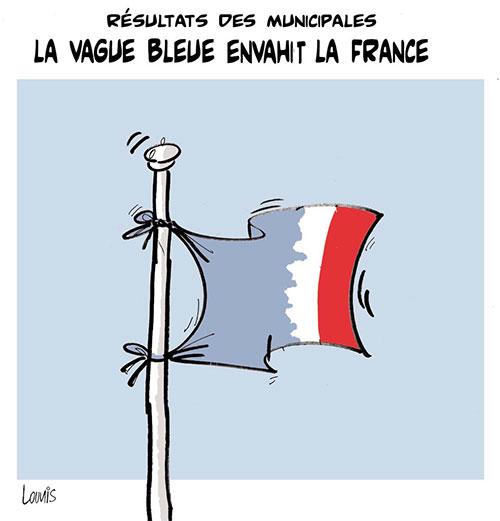 Résultats des municipales: La vague bleue envahit la France - Lounis Le jour d'Algérie - Gagdz.com