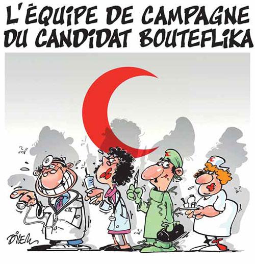 L'équipe de campagne du candidat Bouteflika - Dilem - Liberté - Gagdz.com