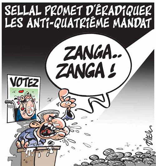 Sellal promet d'éradiquer les anti-quatrième mandat - Dilem - Liberté - Gagdz.com