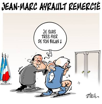 François Hollande remercie Jean-Marc Ayrault - Dilem - TV5 - Gagdz.com