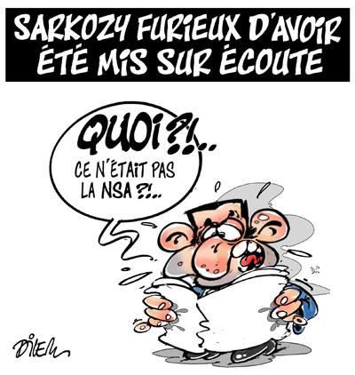 Sarkozy furieux d'avoir été mis sur écoute - Dilem - TV5 - Gagdz.com