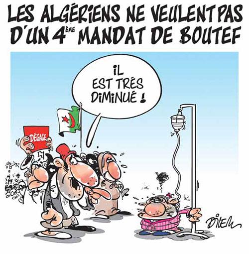 Les Algériens ne veulent pas d'un 4ème mandat de boutef - Dilem - Liberté - Gagdz.com